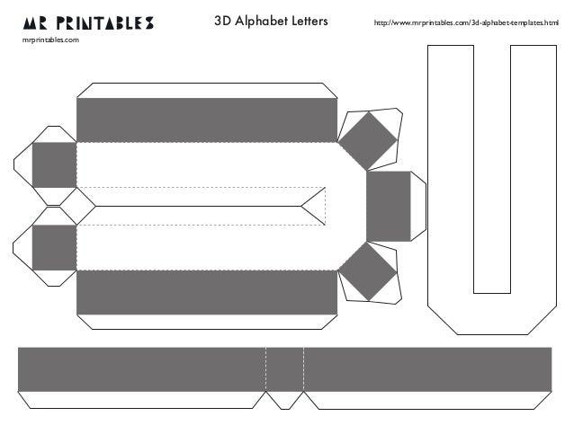 Mrprintables 3d alphabet templates n to z 8 3d alphabet spiritdancerdesigns Image collections