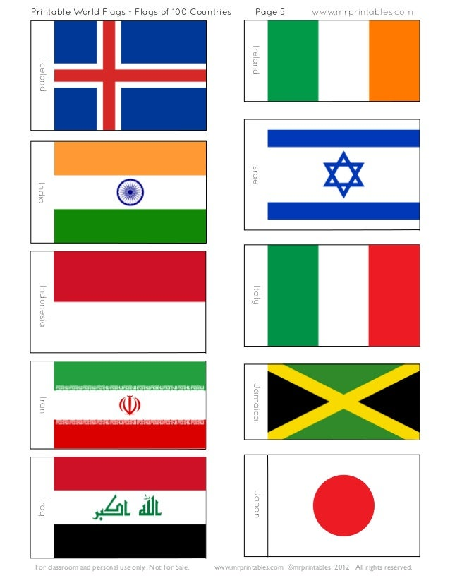 This is an image of Current Flags of the World Printable