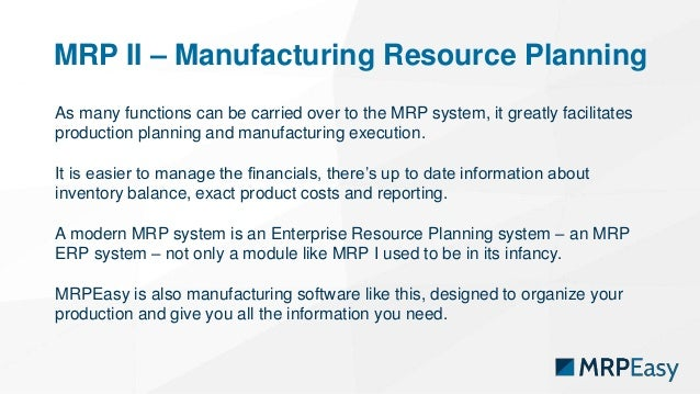 Mrp System Series 1 What Is Mrp