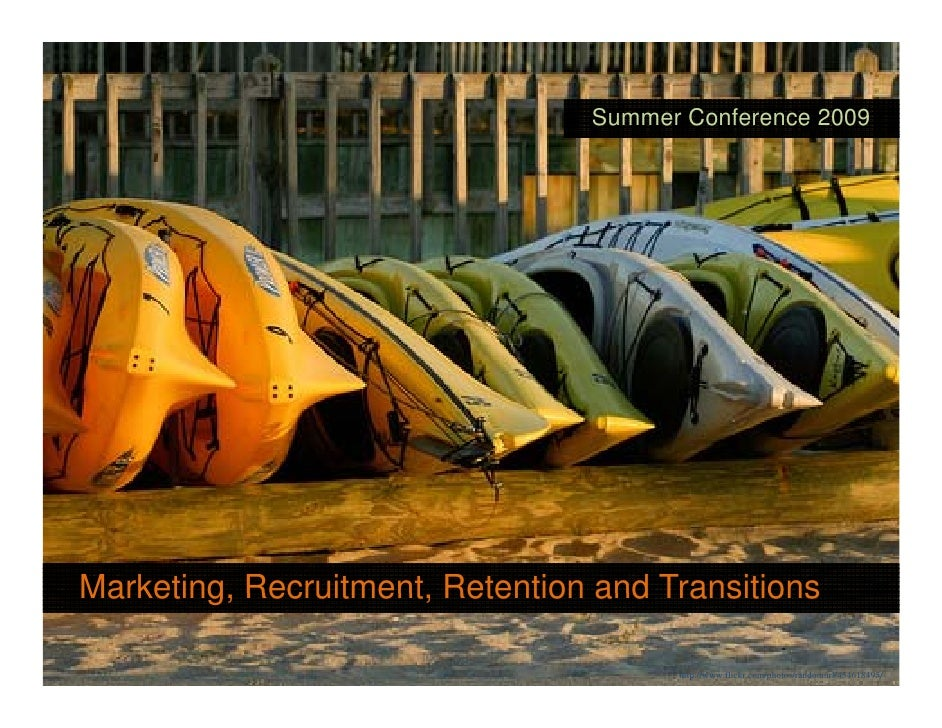 Summer Conference 2009     Marketing, Recruitment, Marketing Recruitment Retention and Transitions                        ...