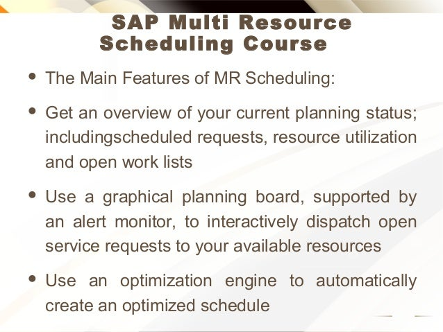 SAP multi resource scheduling online training Slide 3