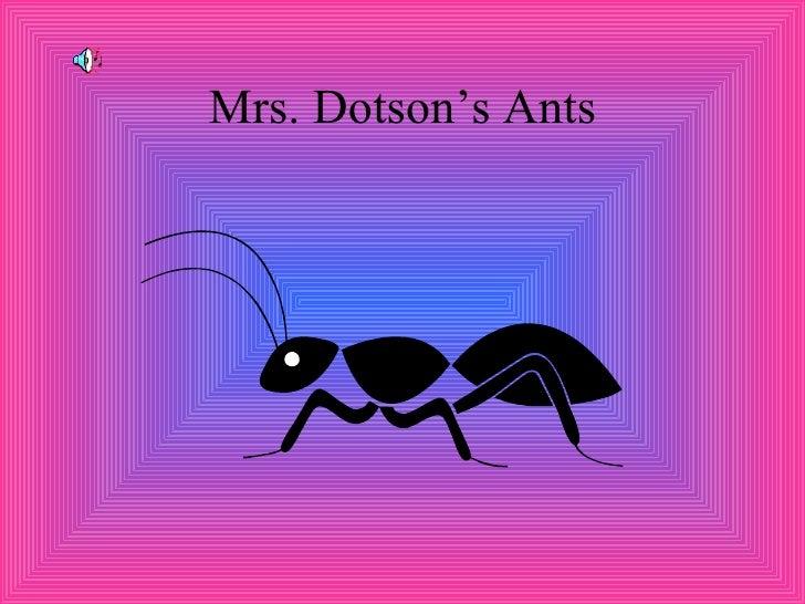 Mrs. Dotson's Ants