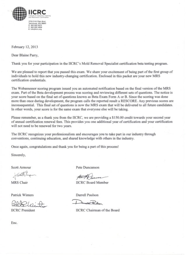 Mrs Certification 2 2013