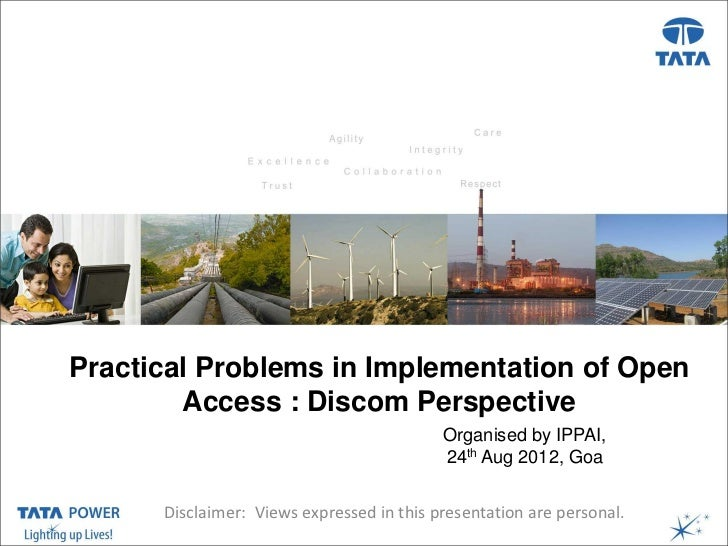 Presentation Title ( Arial, Font size 28 )Practical Problems in Implementation of Open                     Date, Venue, et...