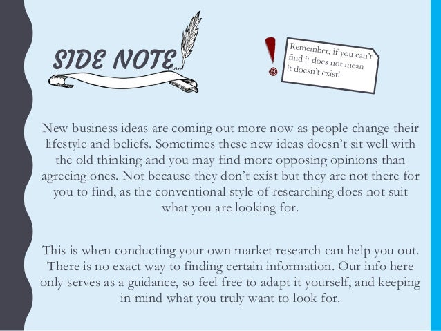 Market research do it yourself 12 side note new business ideas solutioingenieria Image collections
