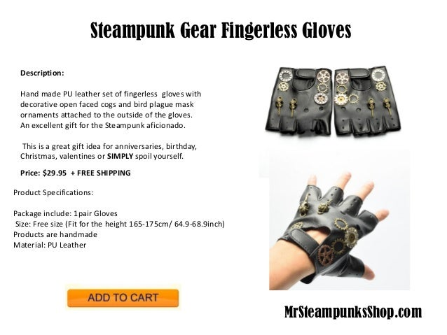 Steampunk Fingerless Net Brown Gloves Victorian Industrial /& Science Fiction fnt