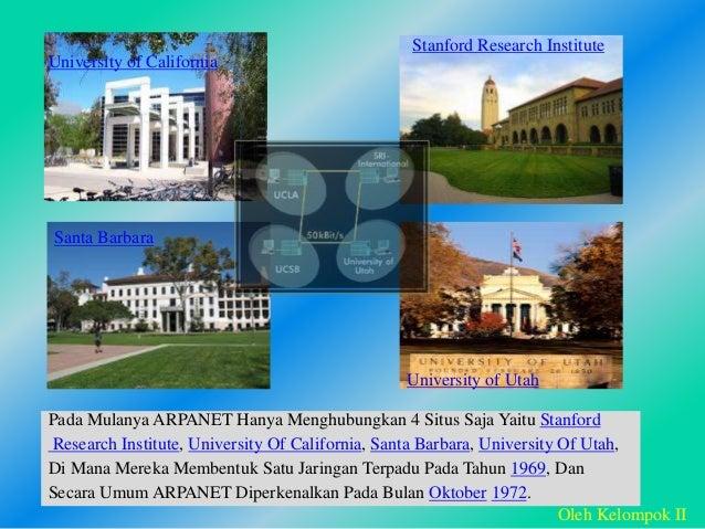 Pada Mulanya ARPANET Hanya Menghubungkan 4 Situs Saja Yaitu Stanford Research Institute, University Of California, Santa B...
