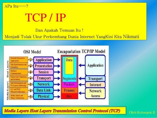 APa Itu……? Dan Apakah Temuan Itu ! Menjadi Tolak Ukur Perkembang Dunia Internet YangKini Kita Nikmati TCP / IP Oleh Kelomp...