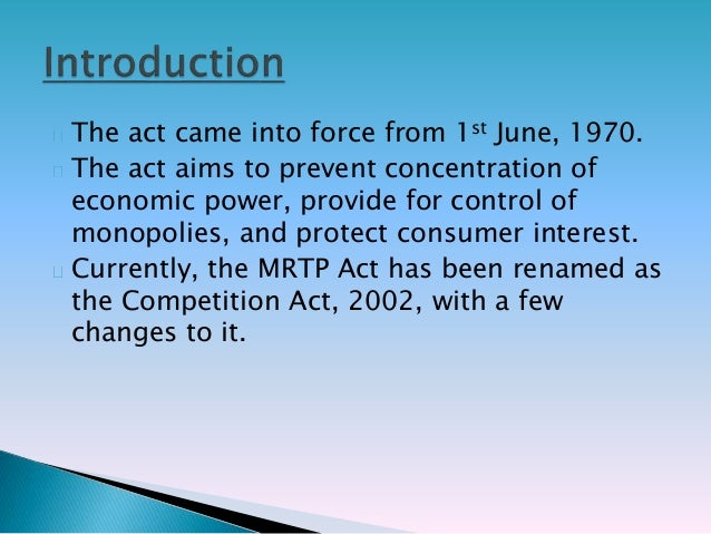 cases on the mrtp act