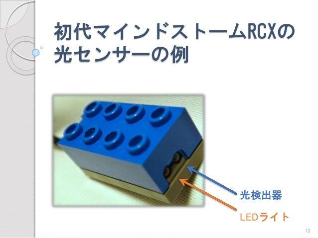 初代マインドストームRCXの 光センサーの例  LEDライト  光検出器  13