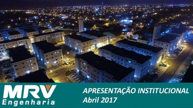 APRESENTAÇÃO INSTITUCIONAL Abril 2017