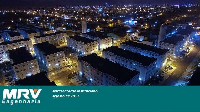 Apresentação Institucional Agosto de 2017