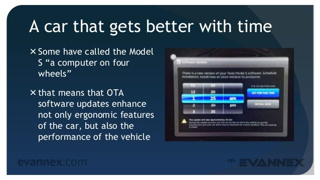 """A car that gets better with time Some have called the Model S """"a computer on four wheels"""" that means that OTA software u..."""
