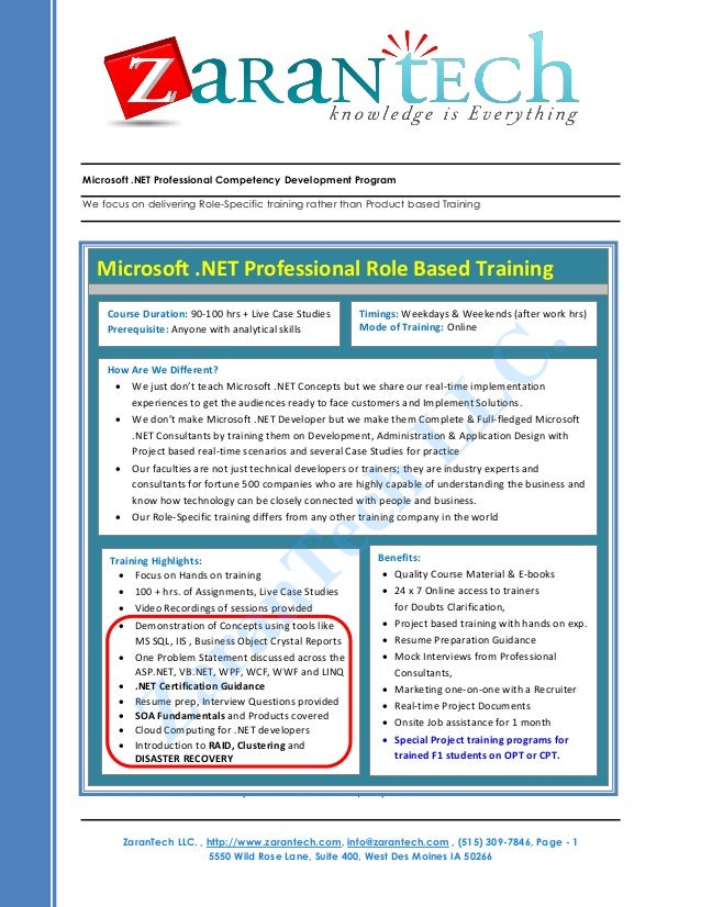 Ms Training From Zarantech