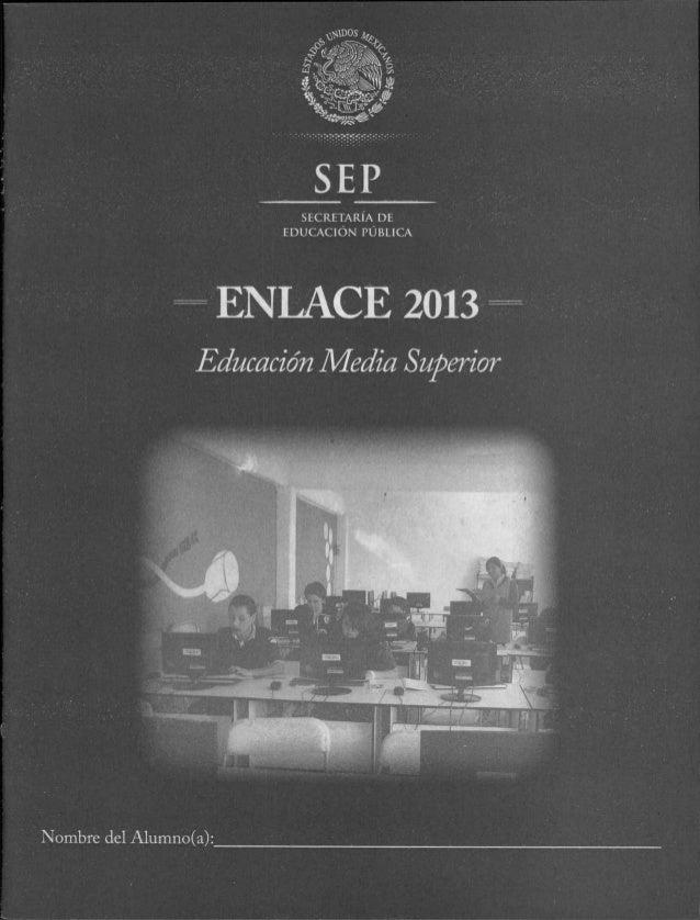 PRUEBA ENLACE 2013