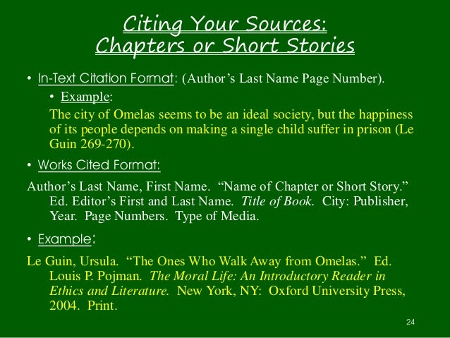 How to Cite a Short Story in an Anthology