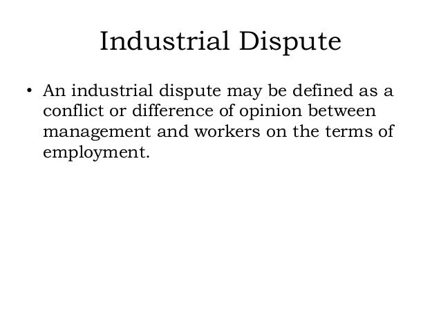 meaning of industrial conflict