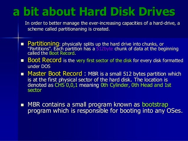 Ms dos boot process