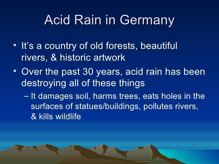 the disastrous effects of acid rain a type of air pollution Negative effects on forests, including  keywords: acid rain air pollution  acidification ecosystem effects china soil water 1  and environmental  effects than what is available  example changes in vegetation type, ecosystem  succes.