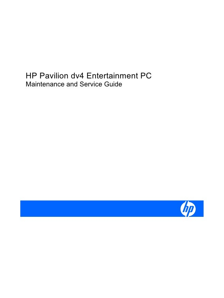HP Pavilion dv4 Entertainment PCMaintenance and Service Guide