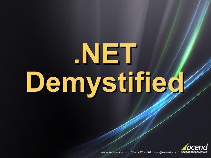 .NET Demystified