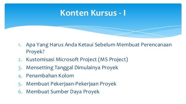Tutorial Microsoft Project