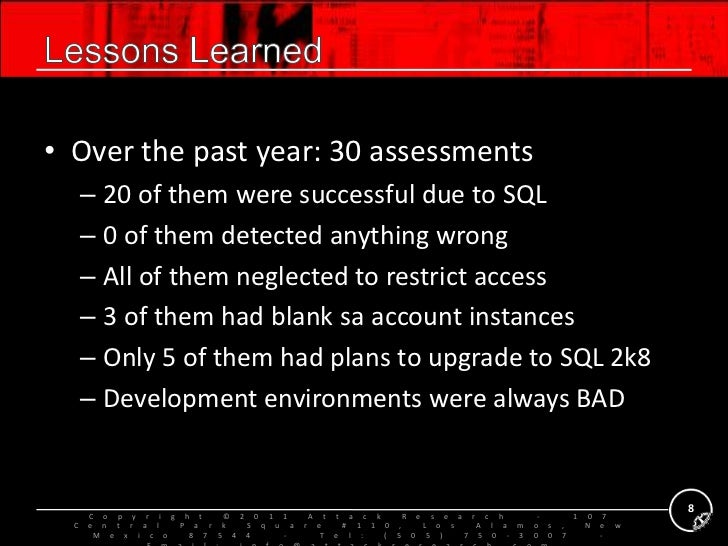 Everything you should already know about MS-SQL post