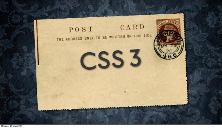 C SS 3Monday, 23 May 2011