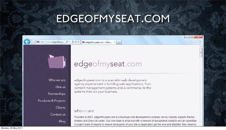 EDGEOFMYSEAT.COMMonday, 23 May 2011