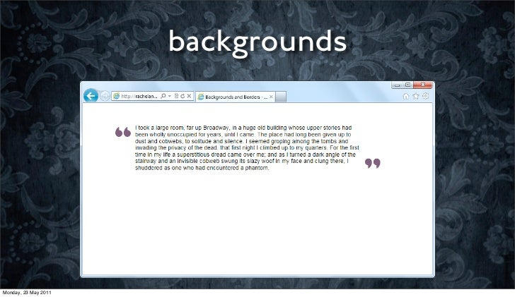 backgroundsMonday, 23 May 2011
