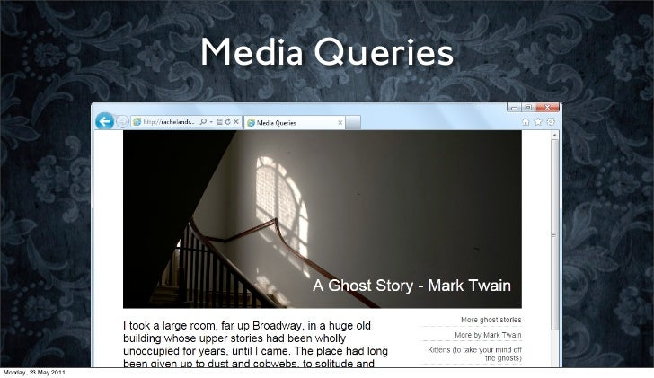 Media QueriesMonday, 23 May 2011