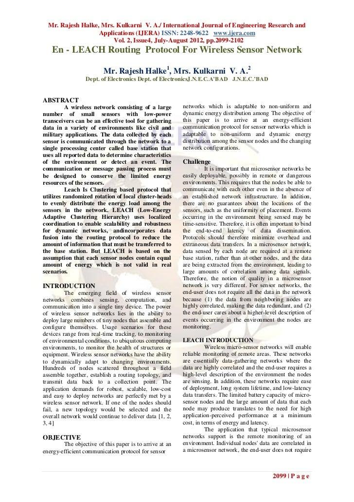 Mr. Rajesh Halke, Mrs. Kulkarni V. A./ International Journal of Engineering Research and                   Applications (I...