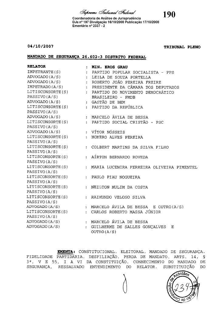 (3) Acórdão e 26602Ementa (3)MS Acórdão e 26602Ementa MS