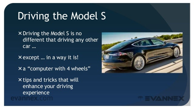 """Driving the Model S Driving the Model S is no different that driving any other car … except … in a way it is! a """"comput..."""