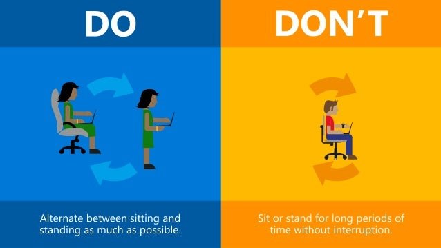Office Ergonomics: Dos and Don'ts Slide 2