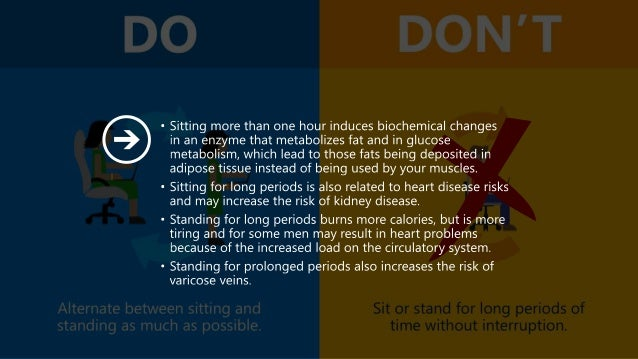 Office Ergonomics: Dos and Don'ts Slide 3