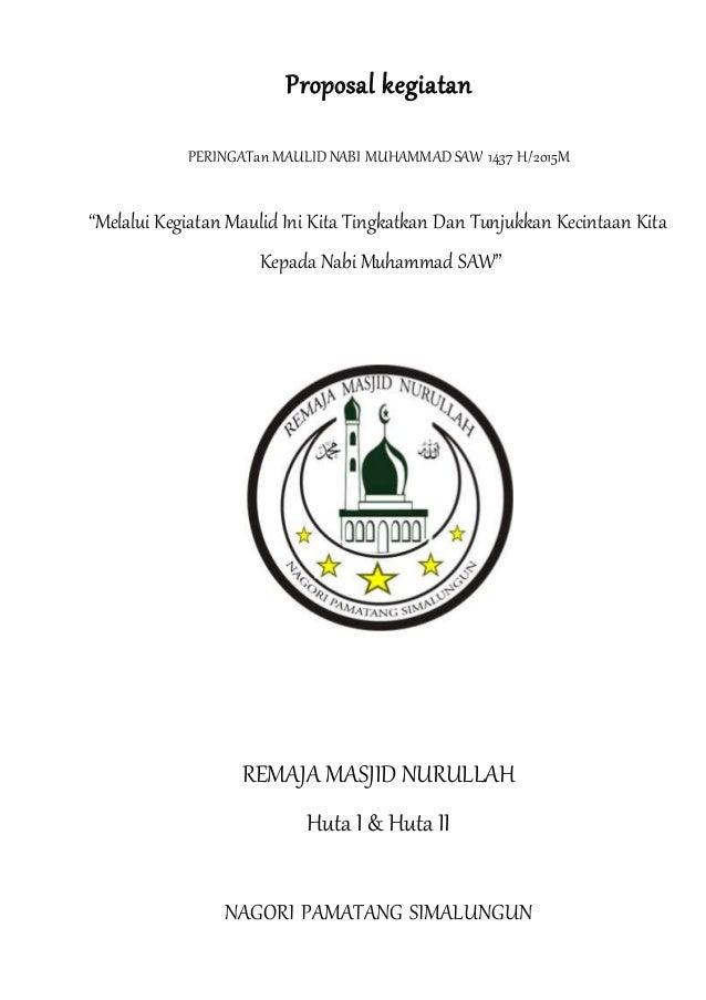 Proposal Kegiatan Maulid Nabi Muhammad Saw 1437h 2015