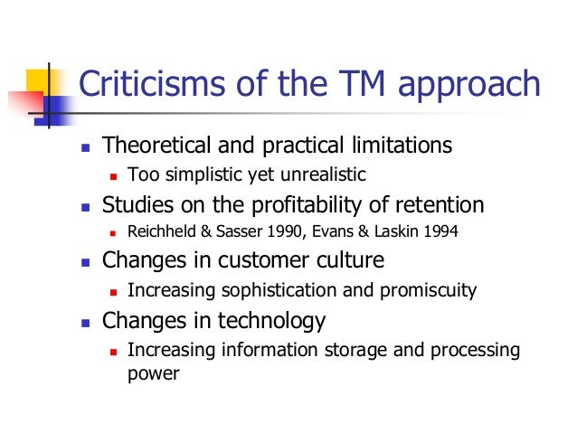 criticisms of relationship marketing strategy