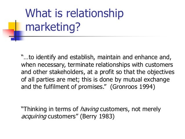 gronroos relationship marketing and customer
