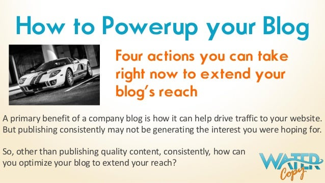 A primary benefit of a company blog is how it can help drive traffic to your website. But publishing consistently may not ...