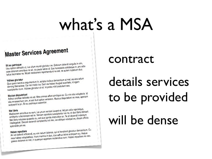 Master Service Agreements Statements of Work – Sample Master Service Agreement