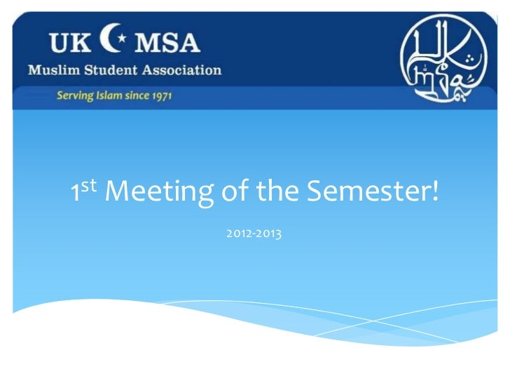 1st Meeting of the Semester!           2012-2013