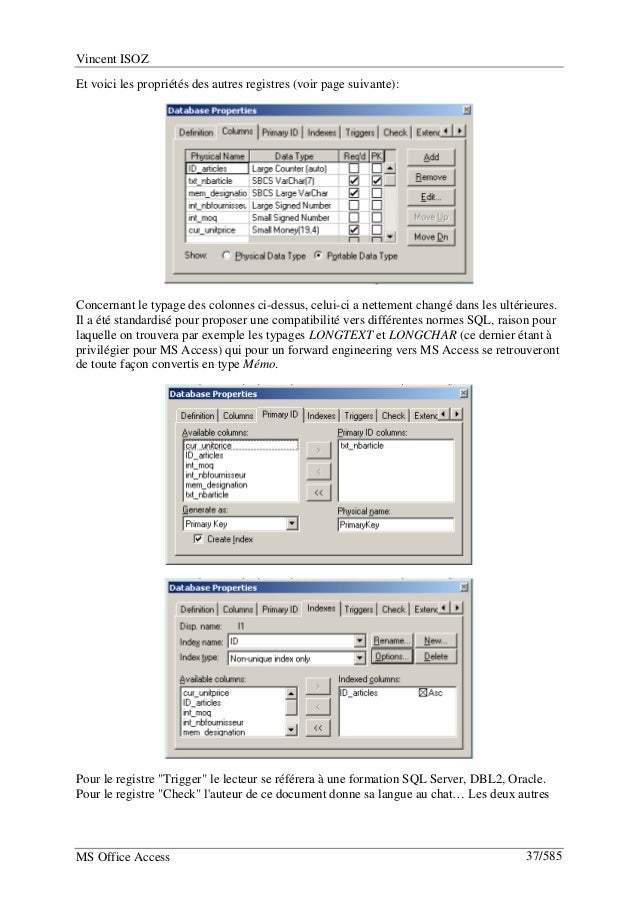 Microsoft Access help tutorials examples