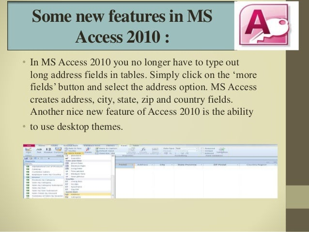 ms access themes