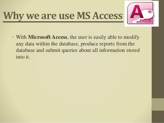 Ms access ppt 2017 by Gopal saha