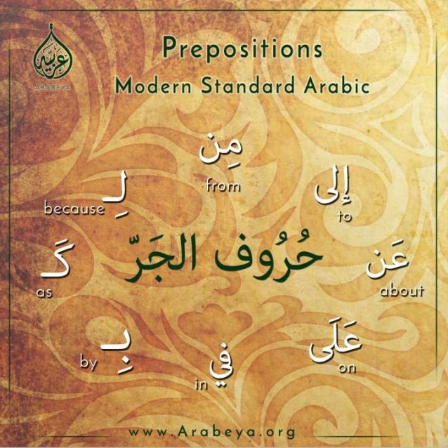 09 Quick Arabic Grammar Lessons