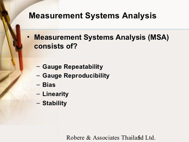 Measurement System Analysis - ReliaWiki