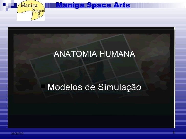Maniga Space Arts <ul><li>Modelos de Simulação   </li></ul>ANATOMIA HUMANA