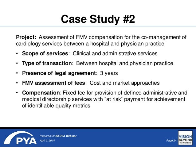Valuing Healthcare Management Services Agreements