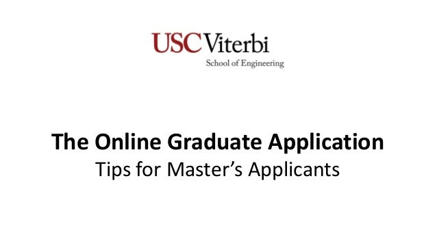 The Online Graduate Application Tips for Master's Applicants